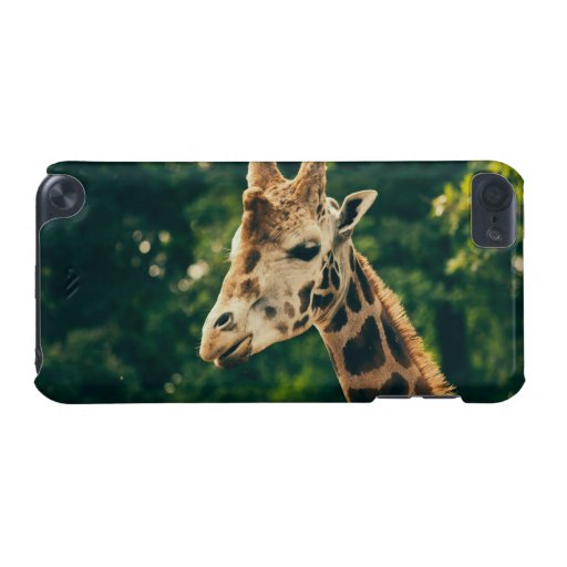 Green Giraffe Portrait, Animal Photography iPod Touch (5th Generation) Cases