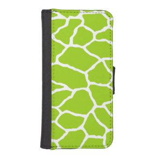 Green Giraffe Print iPhone 5/5s Wallet Case
