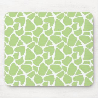 Green Giraffe Print Mousepad
