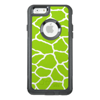 Green Giraffe Print OtterBox iPhone 6/6s Case
