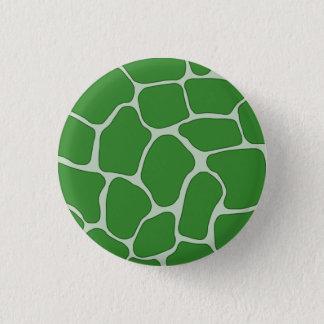 Green Giraffe Print Pattern Button
