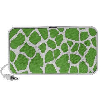 green giraffe skin PC speakers