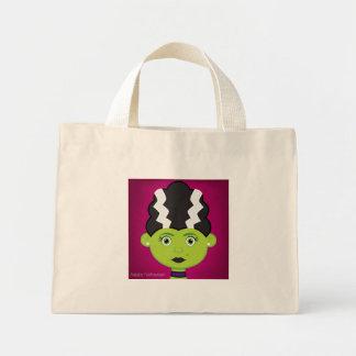 Green girl monster mini tote bag