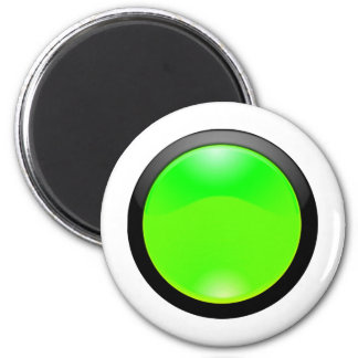 Green Glass 6 Cm Round Magnet