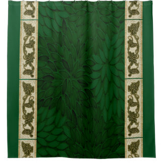 Green Glass Petals curtain