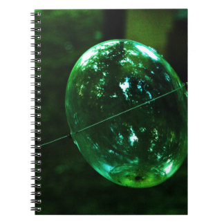 Green Glass Raindrop Spiral Notebook