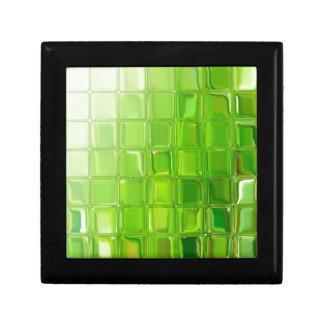 Green glass tiles gift box