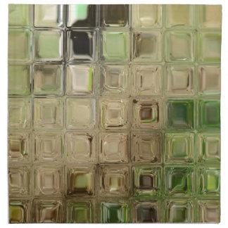 Green glass tiles napkin