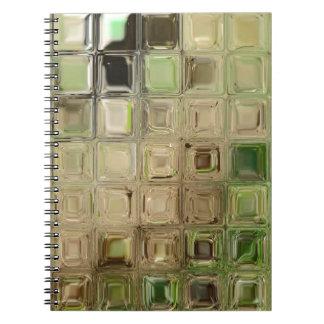 Green glass tiles notebooks