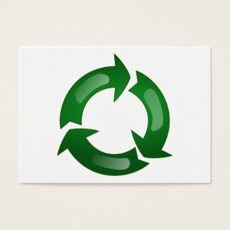 Green Glassy Recycle Symbol