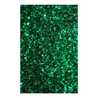 Green Glimmer Custom Stationery