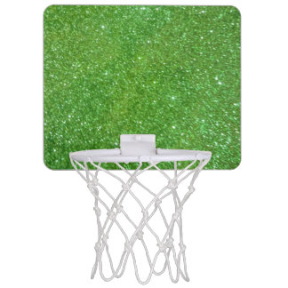 Green Glitter Abstract Texture Mini Basketball Hoop