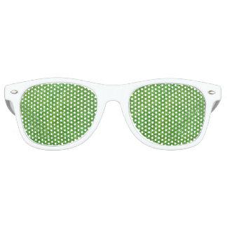 Green Glitter Abstract Texture Retro Sunglasses