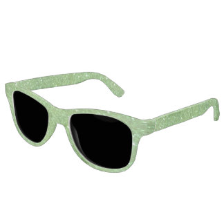 Green Glitter Abstract Texture Sunglasses