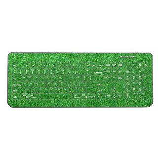 Green Glitter Keyboard