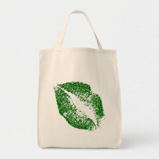 Green Glitter Lips #2