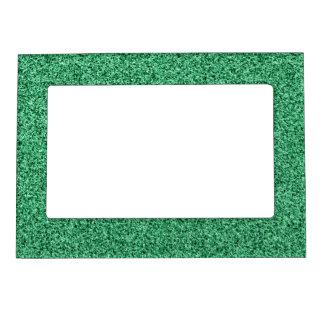 Green glitter magnetic frame