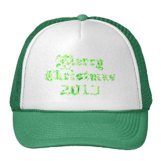 Green Glitter Merry Christmas 2013 Cap