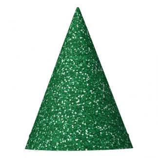 Green Glitter Party Hat