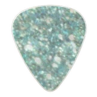 Green Glitter Pearl Celluloid Guitar Pick