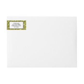Green Glitter Printed Wraparound Return Address Label