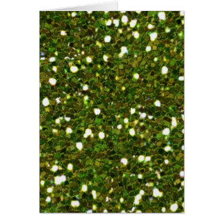 Green Glitters Card