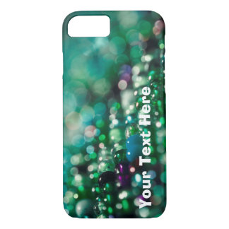 Green Glittery Phone Case with Customizable Text
