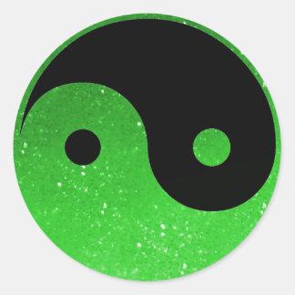 Green Glitz Look Yin Yang Stickers