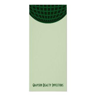 Green Global Business 10 Cm X 24 Cm Invitation Card