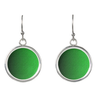 Green Globe Circle Drop Earrings