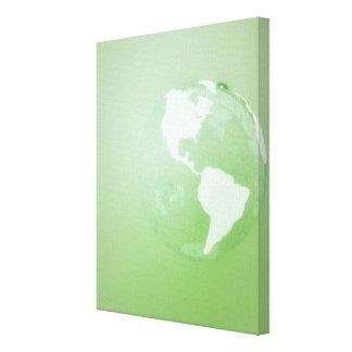 Green Globe Gallery Wrap Canvas