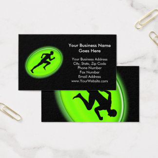 Green Glow Fitness and Personal Training Logo Business Card