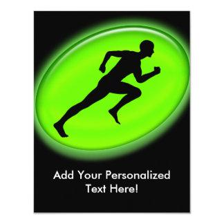 "Green Glow Fitness Logo 4.25"" X 5.5"" Invitation Card"