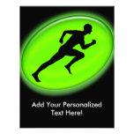 Green Glow Fitness Logo Invite