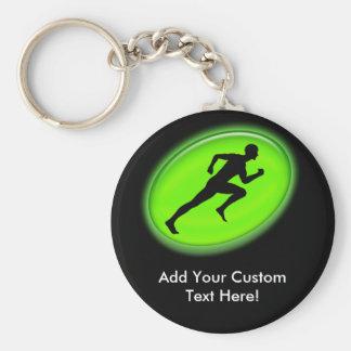 Green Glow Fitness Logo Key Chain