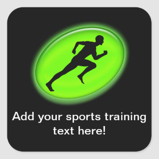 Green Glow Fitness Logo Square Sticker