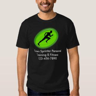 Green Glow Fitness Logo Tee Shirts