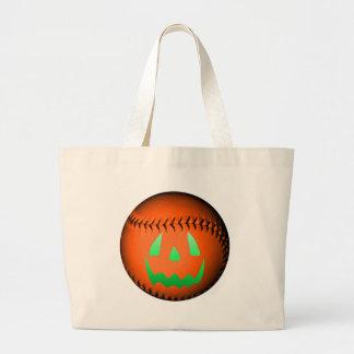 Green Glow Jack O' Lantern Baseball Bags
