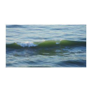 Green Glows the Sea Stretched Canvas Print