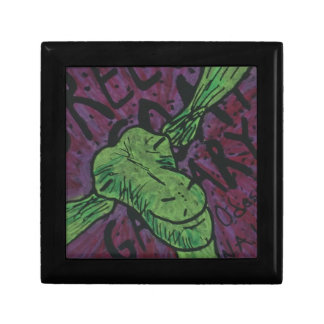 Green Goat Small Square Gift Box