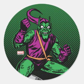 Green Goblin Retro Classic Round Sticker