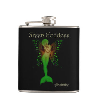 Green Goddess Absinthe Hip Flask