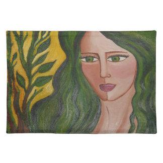"""Green Goddess"" American MoJo Placemats"