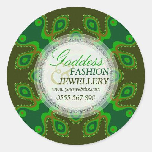 Green Goddess Fashion Retail Product Sticker