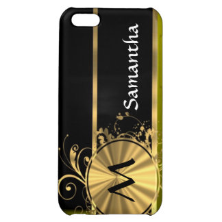 Green gold and black cover for iPhone 5C