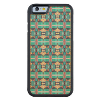 Green Gold And Red Pattern Carved® Maple iPhone 6 Bumper