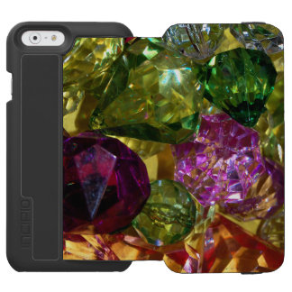 Green Gold and Violet Cut Glass iPhone Case Incipio Watson™ iPhone 6 Wallet Case