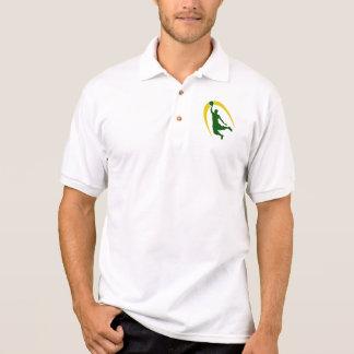Green Gold Basketball Polo Shirt