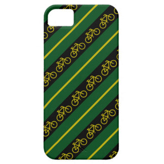 Green Gold Bike Bicycle Stripes iPhone 5 Cover
