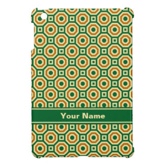 Green/Gold/Brown Nested Octagons iPad Case